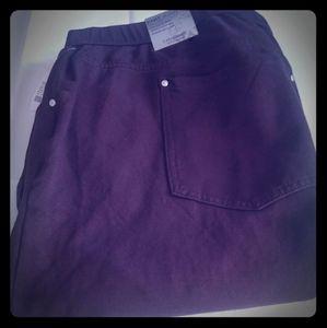 Catherine's Brown Knit Jean Pants 4X&5X-NWT